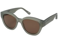 Elizabeth And James Atkins Teal Brown Mono Lens Fashion Sunglasses Green