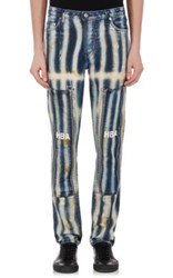 Hood By Air Men's Striped Jeans Blue