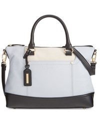Tignanello Smooth Operator Leather Convertible Satchel Light Lilac Egg Black