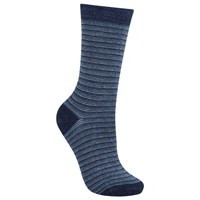 John Lewis Viscose Mini Stripe Ankle Socks Pack Of 1 Navy Blue White