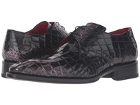 Jeffery West Flash Croc Gibson Metallic Black Men's Shoes
