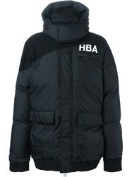 Hood By Air Hooded Padded Coat Black