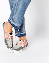 Sperry Bahama 2 Eye Boat Flat Shoes Grey