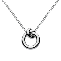 Kit Heath Sterling Silver Knot Necklace Silver
