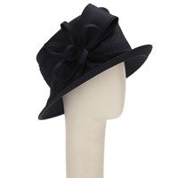 John Lewis Vera Bow And Loop Shantung Occasion Hat Navy