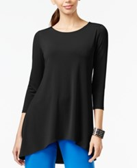 Alfani Petite High Low Jersey Tunic Top Only At Macy's Deep Black