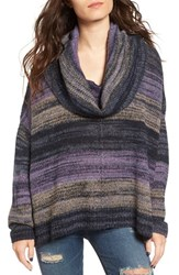 Sun And Shadow Women's Cowl Neck Boxy Sweater