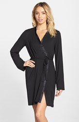 Women's Calvin Klein 'Essentials' Short Robe Black
