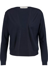 Pringle Cashmere Wool And Silk Blend Cardigan Blue
