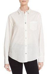 Cinq A Sept Women's 'Castor' Lace Back Shirt Ivory Ivory
