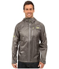 Outdoor Research Helium Hd Jacket Pewter Lemongrass Men's Coat Gray