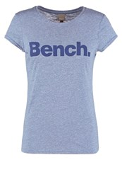 Bench Synchronization Print Tshirt Light Blue Marl Mottled Blue