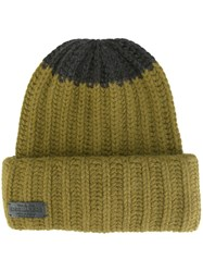 Dsquared2 Contrast Knit Beanie Green