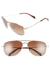 Salt 'Hirschfelder' 61Mm Polarized Sunglasses Honey Gold Brown