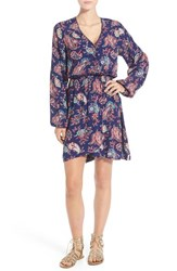 Women's Rhythm 'Boheme' Paisley Faux Wrap Dress