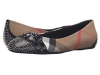 Burberry Avonwick Stu Black Studs Women's Dress Flat Shoes