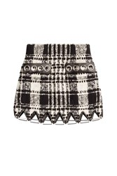 Alexander Wang Boucle Skirt With Leather Multicolor