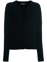 Dolce And Gabbana Single Button Cardigan Black