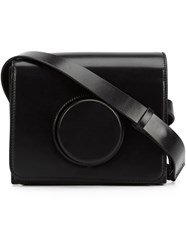 Christophe Lemaire Circle Detail Crossbody Bag Black