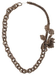 Night Market Beaded Chain Necklace Brown