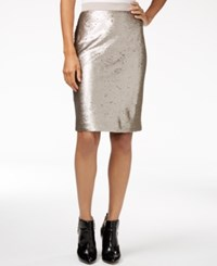 Maison Jules Sequin Pencil Skirt Only At Macy's Gold Combo