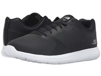 Skechers Go Walk City Echo Black White Men's Lace Up Casual Shoes