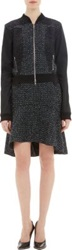 Nina Ricci Lace Applique Tweed Bomber Jacket Black