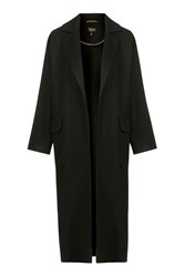 Topshop Textured Slouchy Duster Coat Black