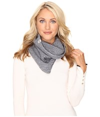 Ugg Crochet Snood With Lurex Sequins Steel Heather Multi Scarves White