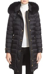 Burberry Women's Ashmoore Down Puffer With Genuine Fox Fur Trim