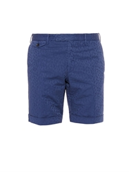Incotex Leaves Jacquard Stretch Cotton Poplin Shorts