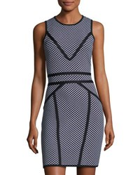 Catherine Malandrino Sleeveless Milano Knit Sheath Dress Black White