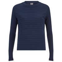 Y.A.S Women's Lima Ribbed Jumper Navy Blue