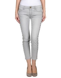 Shine Denim Pants Light Grey