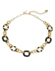 Kate Spade Mod Moment Chain Link Necklace Black