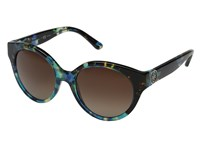 Tory Burch 0Ty7087 Blue Brown Tortoise Brown Gradient Polarized Fashion Sunglasses