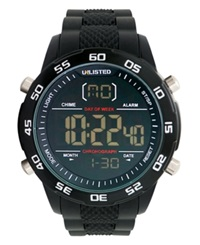Unlisted Watch Men's Digital Black Silicone Strap 49Mm Ul1208