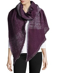 Lord And Taylor Oversized Checked Asymmetrical Wrap Scarf Purple