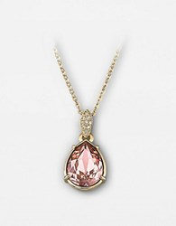 Swarovski Crystal Teardrop Pendant Necklace Pink