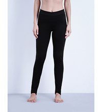 Wolford High Rise Velour Leggings Black
