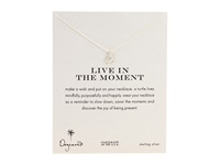 Dogeared Live In The Moment Reminder 16 Silver Necklace