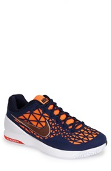 Nike 'Zoom Cage 2' Tennis Shoe Men Mid Navy Citrus White Black