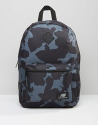 New Balance Camo Backpack In Black Black