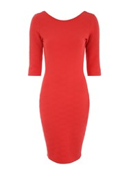 Jane Norman Jersey Pencil Dress Red
