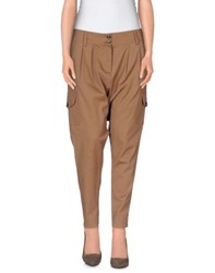 Atos Lombardini Trousers 3 4 Length Trousers Women Cocoa