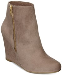 Report Russi Wedge Booties Women's Shoes Taupe