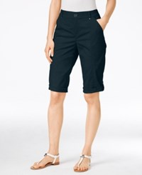 Styleandco. Style Co. Cuffed Bermuda Shorts Only At Macy's Industrial Blue