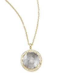 Ippolita Clear Quartz Pendant Necklace Gold