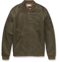 Frame Cotton Bomber Jacket Green