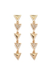 Forever 21 Triangle Drop Earrings Gold Clear